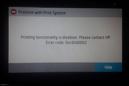 Mengatasi Problem With Print System 0xc6fd0002 Hp pagewide 477