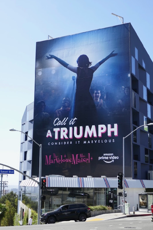 Mrs Maisel season 2 Triumph Emmy FYC billboard