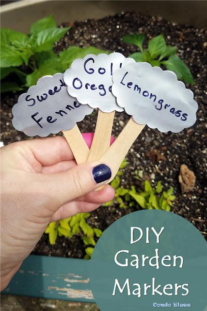 How to make cute unique  DIY garden plant marker tags
