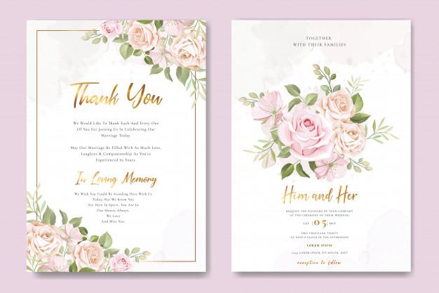 Jasa Desain Undangan Pernikahan Moderen