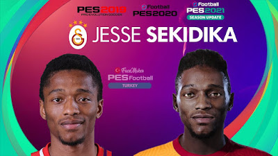 PES 2021 Faces Jesse Sekidika by PES Football Turkey