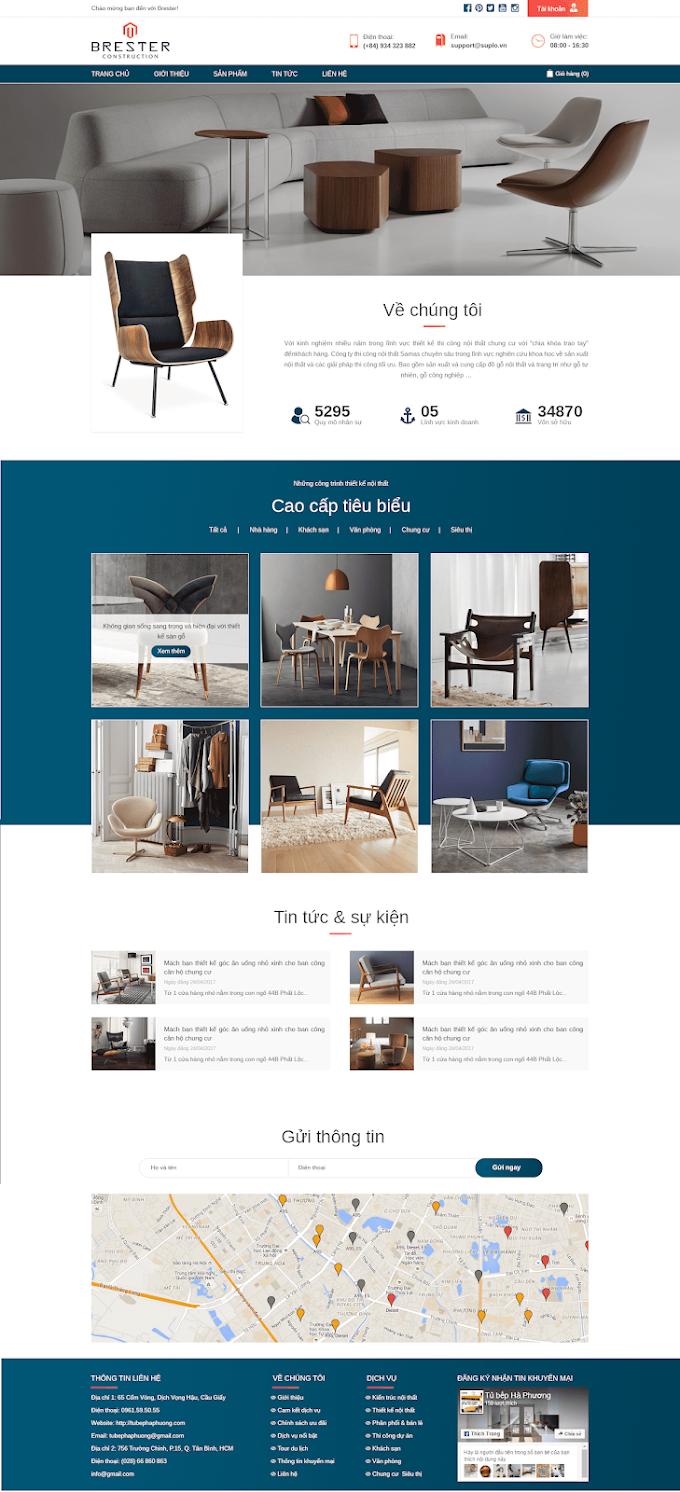 Mẫu website nội thất đẹp