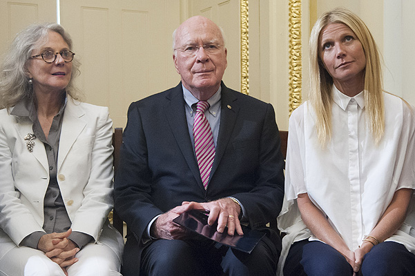 Blythe Danner, Senator Jon Tester and Gwyneth Paltrow