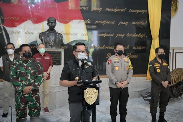 Gubernur Ridwan Kamil: Bandung Raya Siaga 1 Covid-19