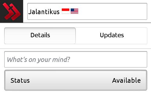 Cara Pasang Icon Bendera Di BBM Anroid terbaru