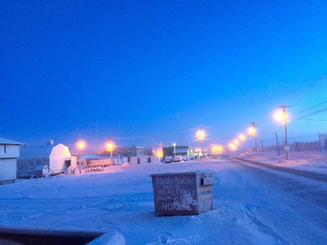 King Eider Inn Barrow Alaska street view (C) 2020 Supratim Sanyal