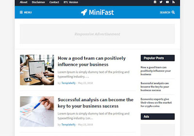 Minifast Free Responsive Blogger Template