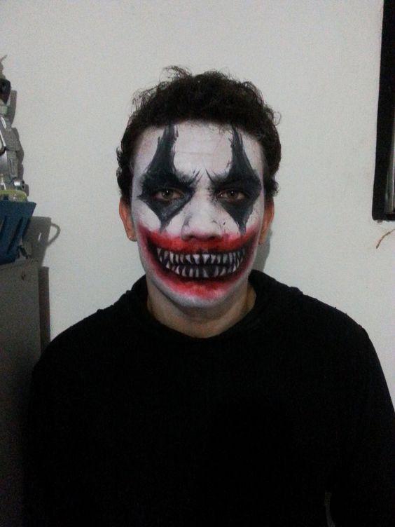 maquiagem masculina de palhaco halloween 2017
