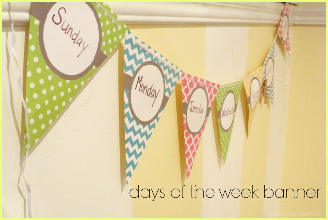 teach preschooler days of the week