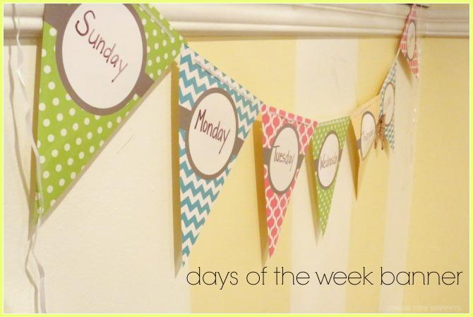 teach preschooler days of the week
