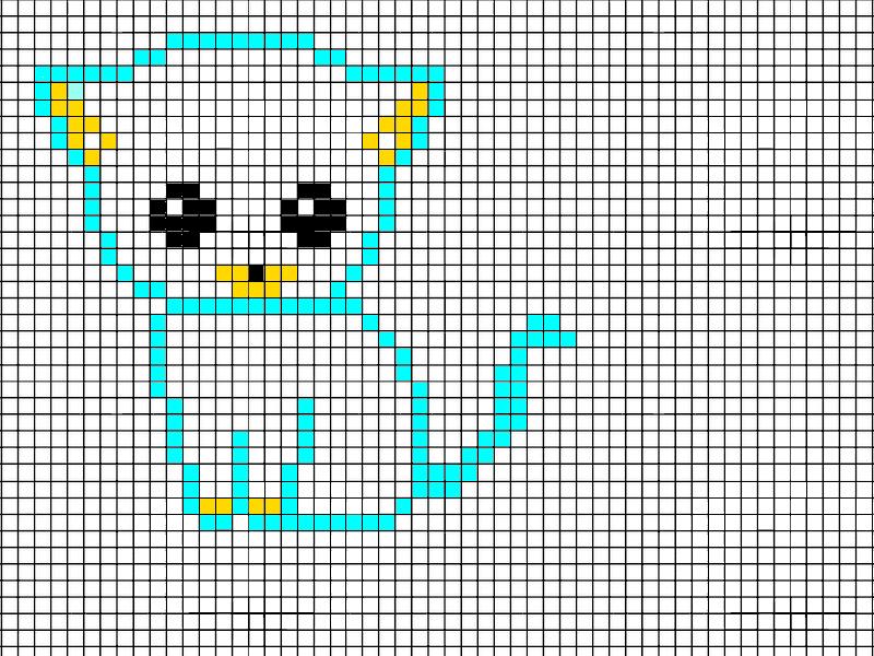Dessin Pixel Facile Smiley