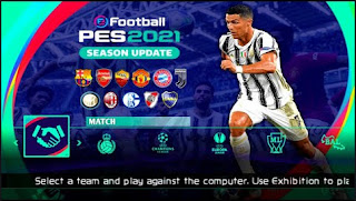 Download PES 2021 PPSSPP By Tutoriales Bendezu V1.8.0 Update Winter Transfer 2021 & Best Graphics Real Face
