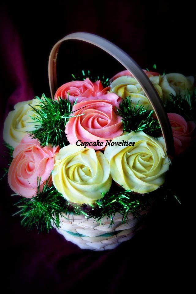 Custom Cupcake Flower Bouquets