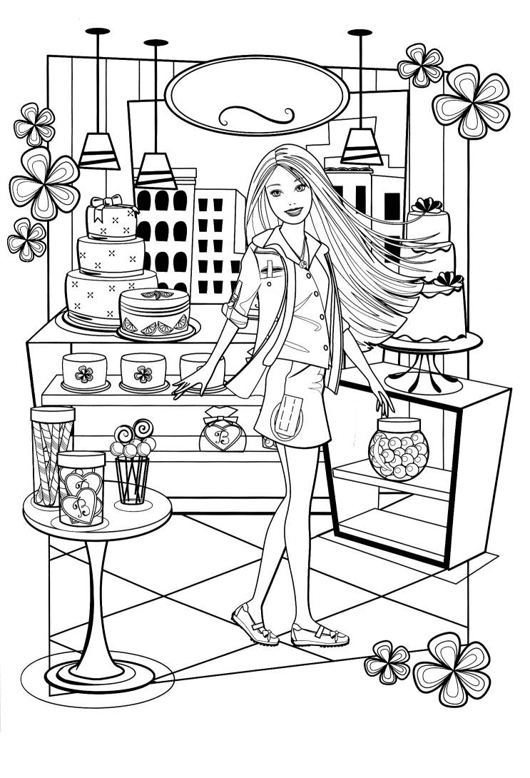 pin fashionista barbie coloring pages gallery tattoo