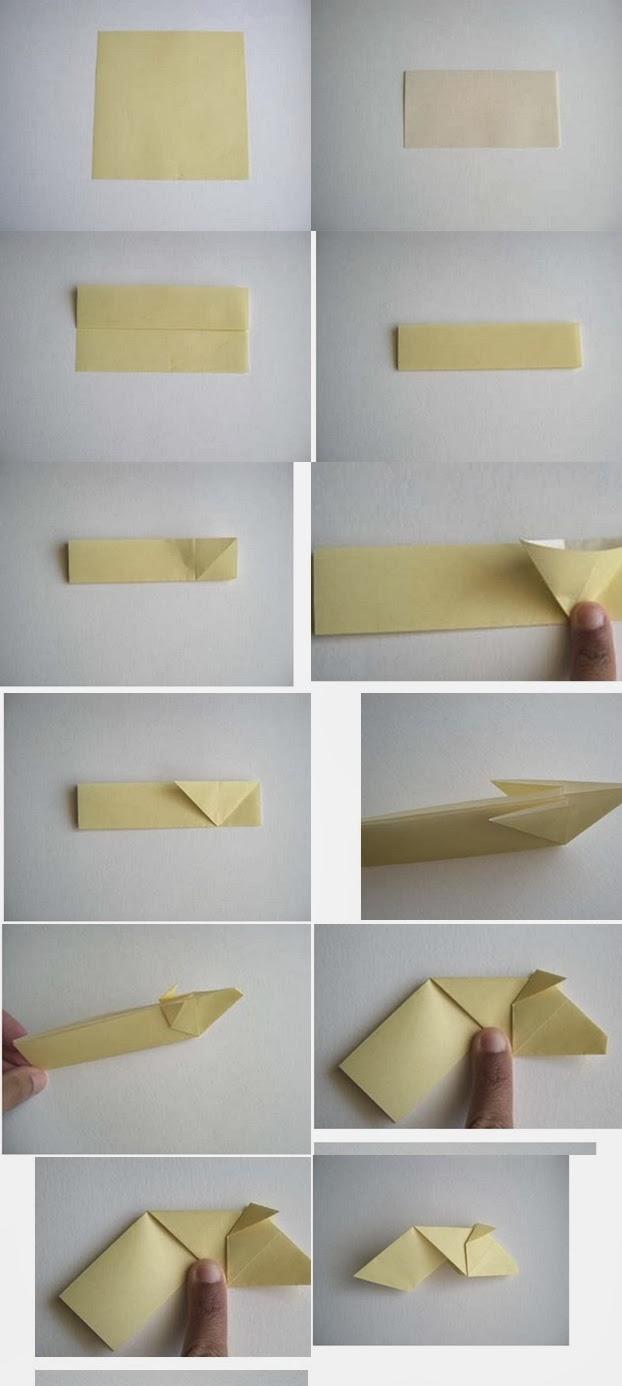 Origami İnek Yapımı Baş Kısmı Resimli Anlatım 2