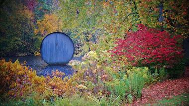Jardín, arboreto y esculturas en Nassau County Museum of Art