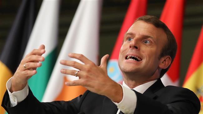 French President Emmanuel Macron calling Europe weak, ineffective
