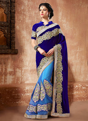 Latest Shimmer Georgette Sari design 2015