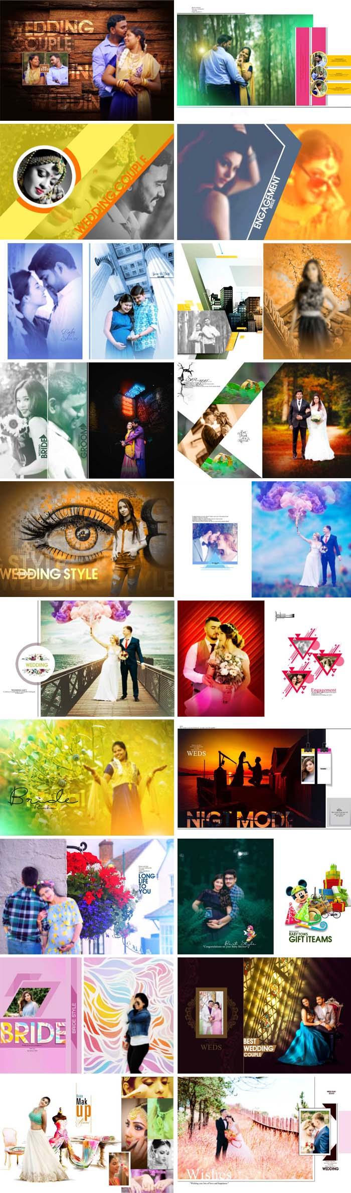 Wedding Album 18x24 Designs