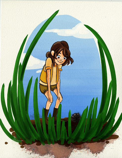 Kid Lit Illustration Digital Watercolor