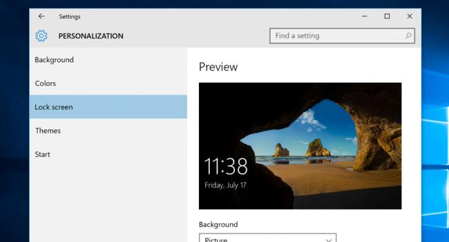 Tùy chỉnh nền màn hình Logon đối với Windows 8 hoặc 10