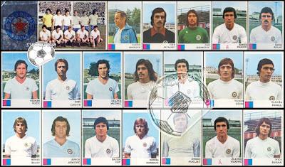 Hajduk Split album sličice Fudbaleri i Timovi 1977/78
