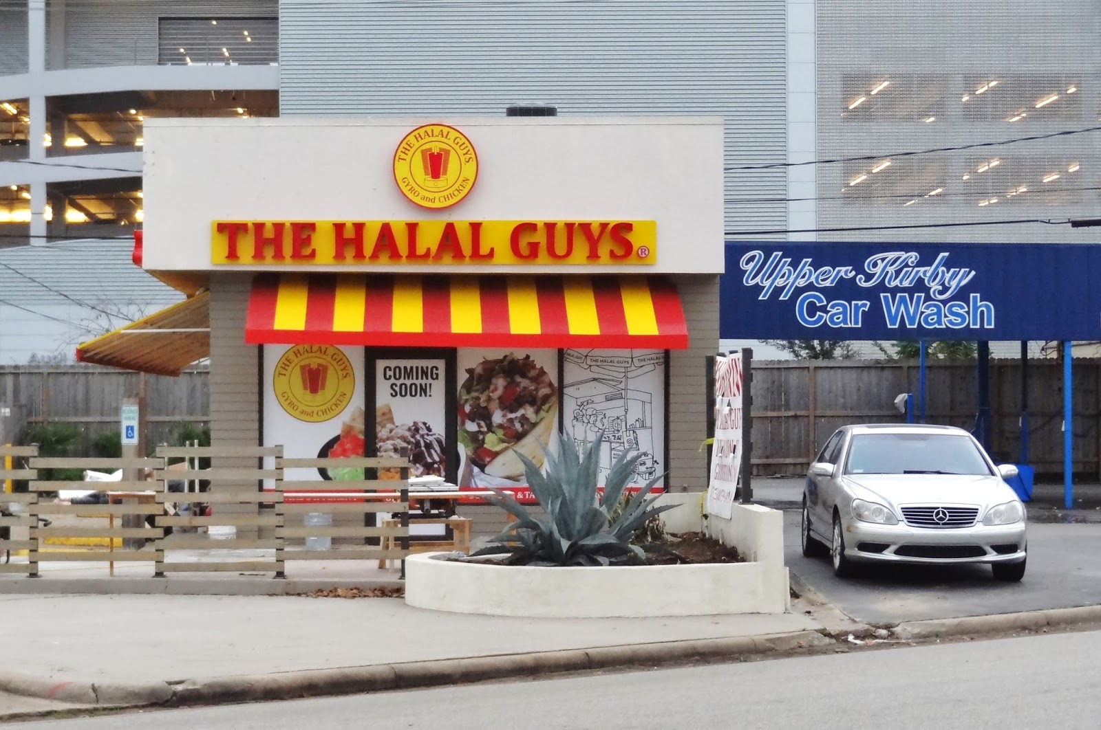 Houston Streetwise The Halal Guys logo and signage is up