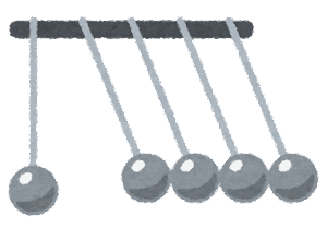 ニュートンのゆりかごのイラスト8