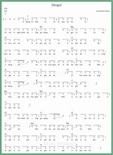 not angka lagu sitogol lagu daerah sumatera utara