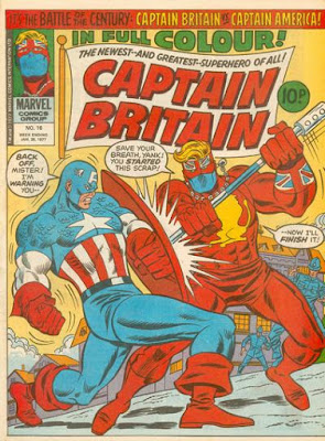 Marvel UK, Captain Britain #1, Captain America