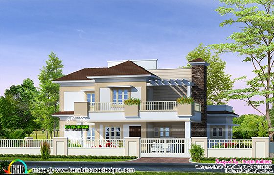 2614 sq-ft double floor home plan
