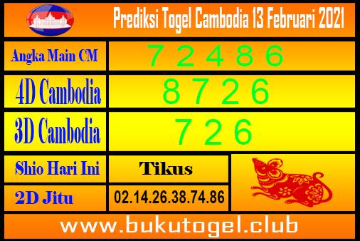Prediksi Kamboja 13 Februari 2021