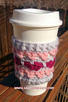 Cross Your Heart Coffee Cozy