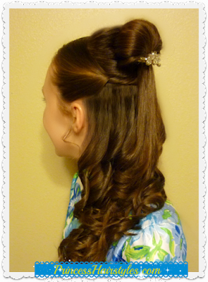 Beauty and the Beasty hairstyle tutorial. Emma Watson (Disney Belle) inspired.