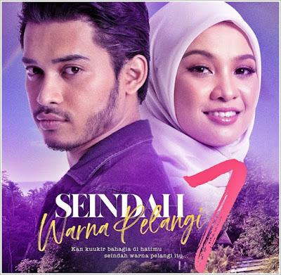Poster Drama Seindah Tujuh Warna Pelangi, Drama Seindah Tujuh Warna Pelangi Lakonan Aeril Zafrel dan Nabila Razali, Drama Slot Akasia, TV3, Drama Adaptasi Novel,