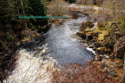 Pattack Falls, Strathmashie Forest, Cairngorms National Park, Scotland, UK