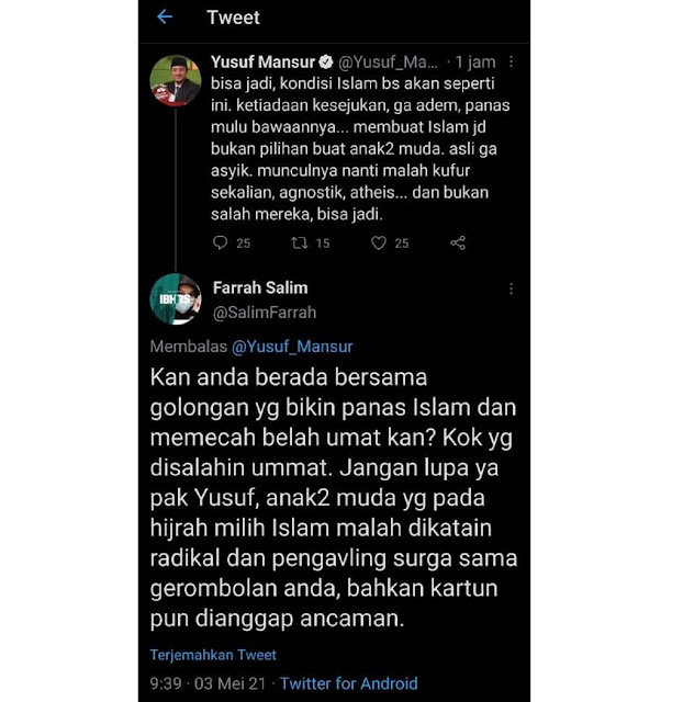 Yusuf Mansur Singgung Kondisi Islam Panas Mulu, Gak Adem, Tiada Kesejukan... Netizen: Kan Anda Berada di Golongan Yang Bikin Islam Panas Mulu
