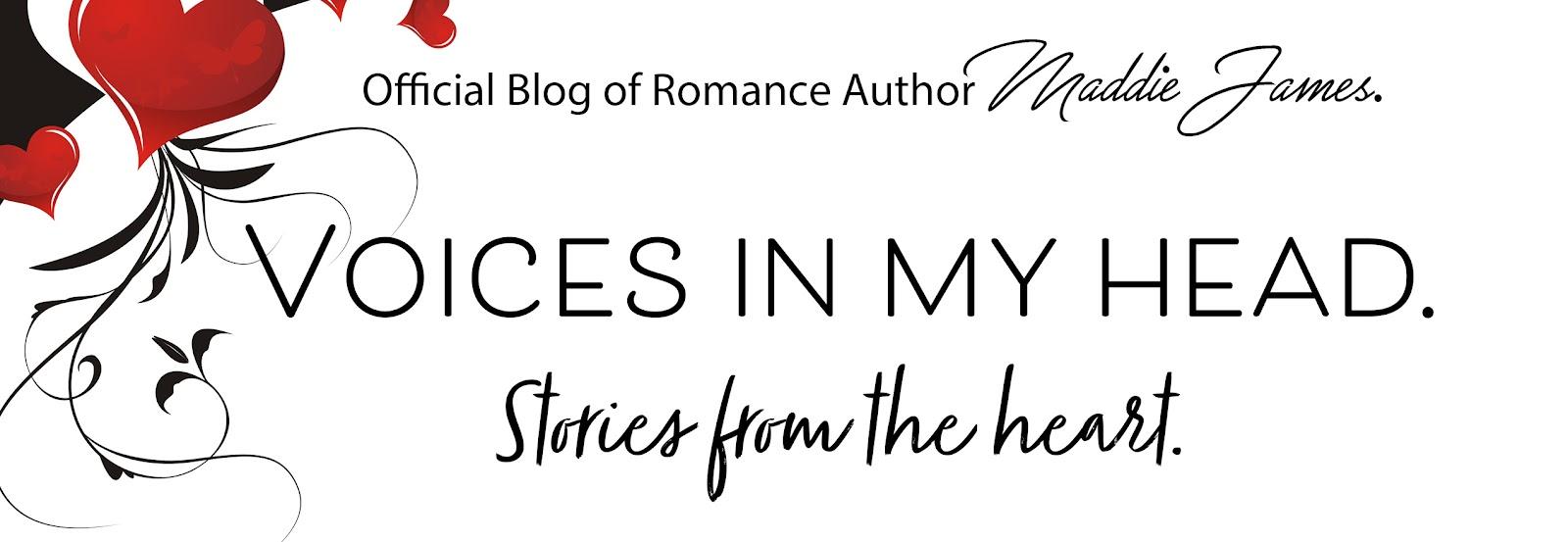 Maddie James, Author Blog