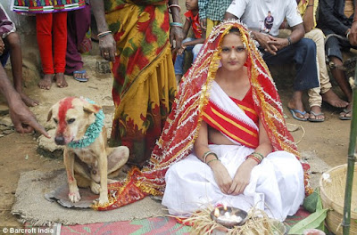 Mangli Munda has to marry a dog to keep off the bad luck from her and her community