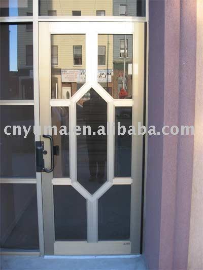 puerta de aluminio y vidrio