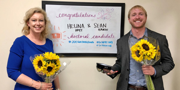 Dr. Helina Hoyt and Dr. Sean Hauze