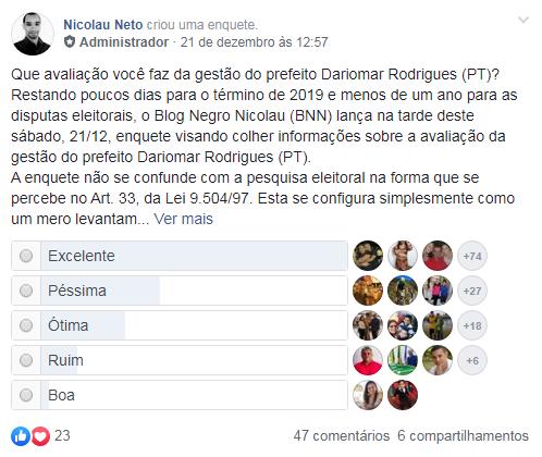 Gestão do prefeito de Altaneira é aprovada por internautas