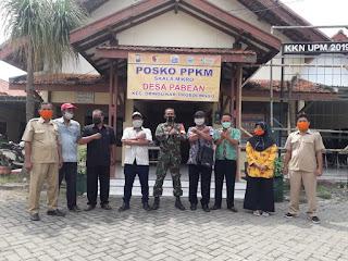 Desa Pabean Buat Posko PPKM,   Untuk Kendalikan Penyebaran Virus Corona