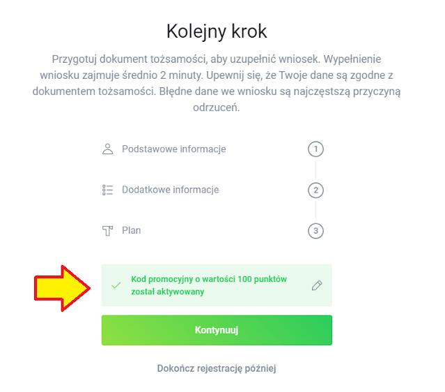 Kod uprawniający do uzyskania bonusu 100 zł za skorzystanie z Twisto