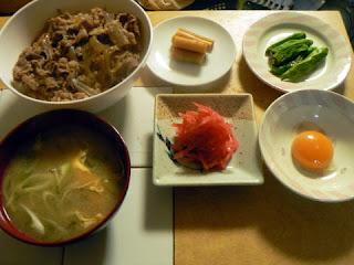 昼ごはん 普通の牛丼