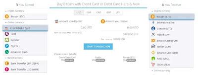 يدعم موقع Paybis الكثير من طرق الدفع لشراء البيتكوين