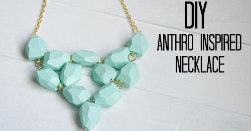 Diy Anthro Inspired Seafoam Necklace Vintage Romance Style