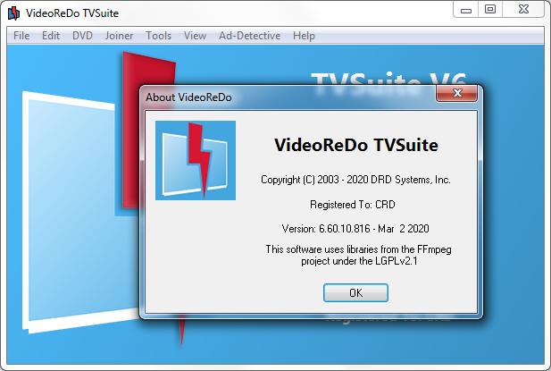 Screenshot VideoReDo TVSuite 6.60.10.816a Full Version