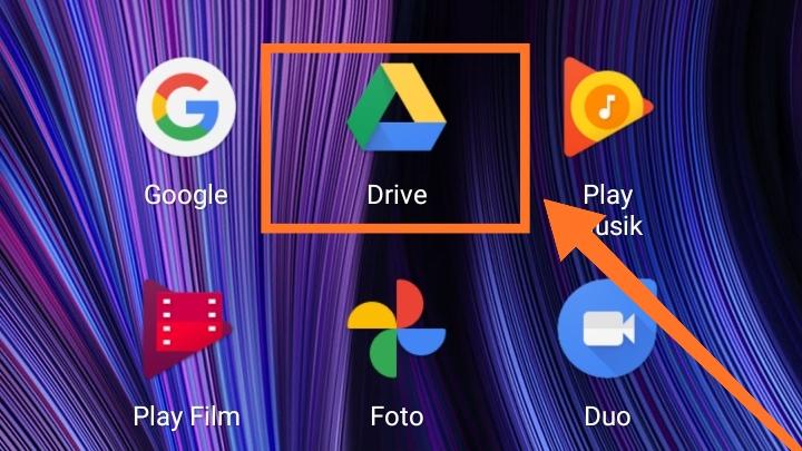 Sebutkan menu yang ada di Google Drive