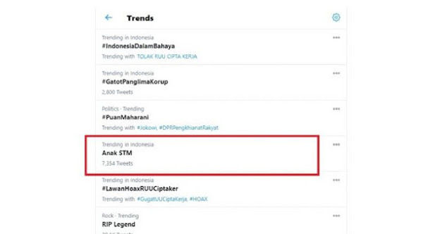 Duduki Trending Twitter, Panggilan Demo Anak STM Menggema